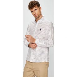 U.S. Polo - Koszula. Szare koszule męskie U.S. Polo, z bawełny, button down, z długim rękawem. W wyprzedaży za 299.90 zł.