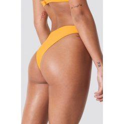 NA-KD Swimwear Dół bikini z wycięciami - Yellow. Żółte bikini damskie NA-KD Swimwear. Za 40.95 zł.