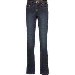 Dżinsy wyszczuplające ze stretchem BOOTCUT bonprix ciemnoniebieski. Jeansy damskie marki bonprix. Za 109.99 zł.