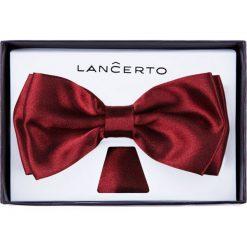 Mucha Bordowa. Czerwone krawaty i muchy LANCERTO, z dzianiny, eleganckie. Za 79.90 zł.