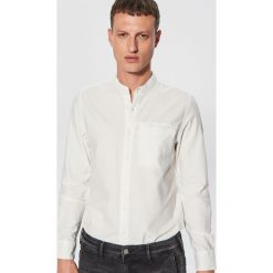 Gładka koszula ze stójką - Kremowy. Białe koszule męskie Cropp, ze stójką. Za 79.99 zł.