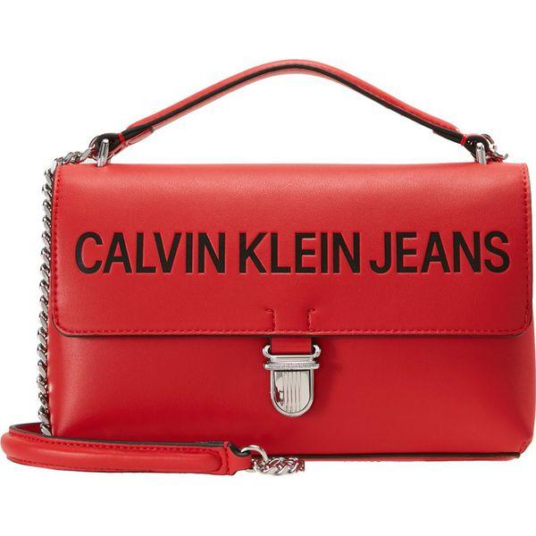 a90a9bc5e0ee9 Calvin Klein Jeans SCULPTED FLAP LOGO Torebka scarlet - Torebki do ...