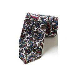 Krawat męski w kratkę MOGUER. Szare krawaty i muchy Hisoutfit, w kratkę, z materiału. Za 129.00 zł.