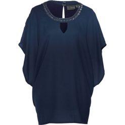 Tunika bonprix ciemnoniebieski. Niebieskie tuniki damskie bonprix, z okrągłym kołnierzem. Za 89.99 zł.