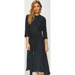 Tommy Hilfiger - Sukienka. Czarne sukienki damskie Tommy Hilfiger, z tkaniny, eleganckie, z krótkim rękawem. Za 849.90 zł.