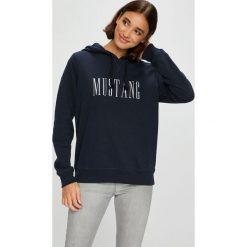 Mustang - Bluza. Szare bluzy damskie Mustang, z nadrukiem, z bawełny. W wyprzedaży za 179.90 zł.