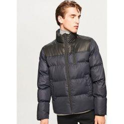 Pikowana kurtka ze stójką - Granatowy. Niebieskie kurtki męskie Reserved. Za 169.99 zł.