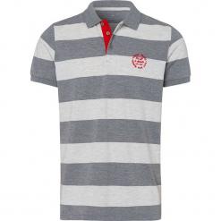 Koszulka polo w kolorze jasnoszaro-kremowym. Szare koszulki polo męskie Cross Jeans, z haftami. W wyprzedaży za 45.95 zł.