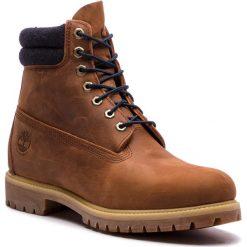 Trapery TIMBERLAND - 6 In Double Collar Boot TB0A1QZJD351 Rawhide. Brązowe śniegowce i trapery męskie Timberland, z gumy. W wyprzedaży za 539.00 zł.