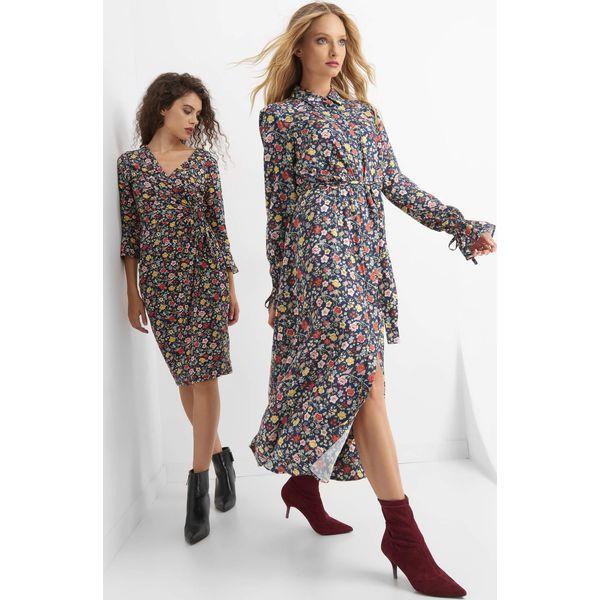 0c3826f353 Sukienka midi w kwiaty - Niebieskie sukienki damskie marki Orsay