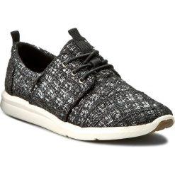Półbuty TOMS - Del Rey Sneaker 10006277. Czarne półbuty damskie Toms, z materiału. W wyprzedaży za 239.00 zł.