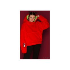 Bluza FakaFutro-  Fake Fur- True Luv. Czerwone bluzy damskie Orientalion, z haftami, z futra. Za 390.00 zł.