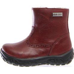 """Skórzane botki """"Braz"""" w kolorze czerwonym. Botki dziewczęce Zimowe obuwie dla dzieci. W wyprzedaży za 172.95 zł."""