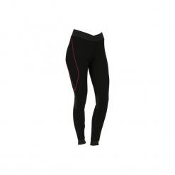 Legginsy narciarskie XWARM. Czarne legginsy damskie WED'ZE, z materiału. W wyprzedaży za 49.99 zł.