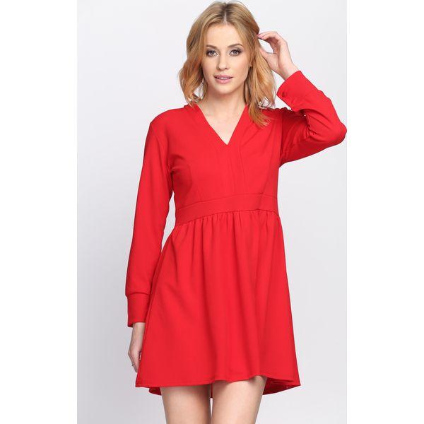 7286bf1015 Czerwona Sukienka Develop a Love - Sukienki damskie marki Born2be ...