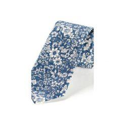 Krawat męski ROTA NIEBIESKI. Niebieskie krawaty i muchy Hisoutfit, z materiału. Za 129.00 zł.