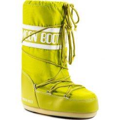 Śniegowce MOON BOOT - Nylon 14004400070 Lime/D. Zielone śniegowce i trapery damskie Moon Boot, z materiału. Za 359.00 zł.