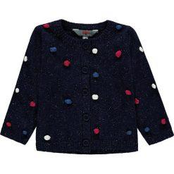 Kardigan w kolorze granatowym ze wzorem. Swetry dla dziewczynek marki bonprix. W wyprzedaży za 59.95 zł.