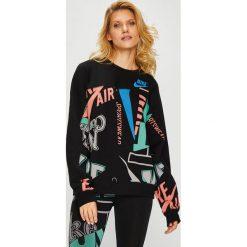 Nike Sportswear - Bluza. Czarne bluzy damskie Nike Sportswear, z bawełny. Za 259.90 zł.