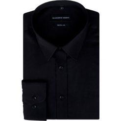 Koszula KDCR000322 SIMONE. Czarne koszule męskie Giacomo Conti, z bawełny, z klasycznym kołnierzykiem. Za 169.00 zł.
