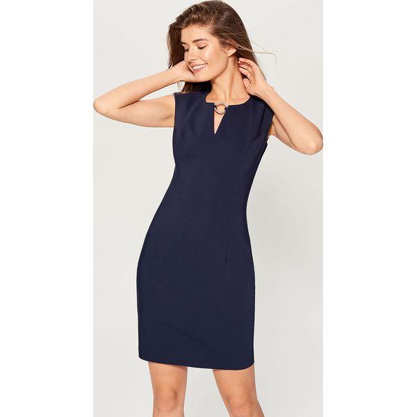 7936238e97 Sukienka z biżuteryjną klamrą - Niebieski - Sukienki damskie marki ...