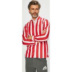 Tommy Jeans - Koszula. Szare koszule męskie Tommy Jeans, w paski, z bawełny, button down, z długim rękawem. Za 359.90 zł.