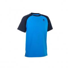 T-Shirt 500 Jr niebieski. Niebieskie t-shirty męskie ARTENGO, z elastanu. W wyprzedaży za 24.99 zł.