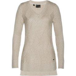 Sweter z kaszmirem bonprix beżowy melanż. Swetry damskie marki KALENJI. Za 169.99 zł.