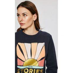 Femi Stories - Bluza Malibu. Szare bluzy damskie Femi Stories, z nadrukiem, z bawełny. W wyprzedaży za 169.90 zł.