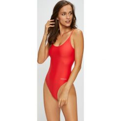 Calvin Klein Jeans - Strój kąpielowy. Brązowe kostiumy jednoczęściowe damskie Calvin Klein Jeans. W wyprzedaży za 299.90 zł.