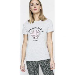 Undiz - Top piżamowy. Szare piżamy damskie Undiz, z nadrukiem, z bawełny. W wyprzedaży za 34.90 zł.