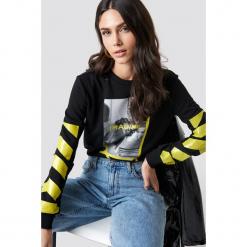 Trendyol Sweter Imagine - Black. Czarne swetry damskie Trendyol, z materiału, z okrągłym kołnierzem. Za 100.95 zł.