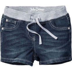 """Miękkie szorty z elastycznym paskiem bonprix ciemnoniebieski """"stone"""". Spodenki dla dziewczynek bonprix, na lato. Za 74.99 zł."""