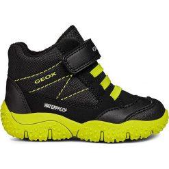 """Zimowe botki """"Baltic"""" w kolorze czarno-żółtym. Buty zimowe chłopięce marki Geox. W wyprzedaży za 165.95 zł."""
