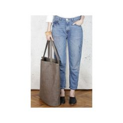 Mega Shopper bag brązowa torba oversize Vegan. Brązowe torebki shopper damskie Hairoo, w paski. Za 185.00 zł.