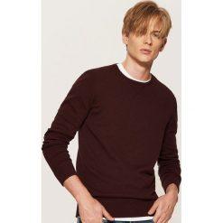 Gładki sweter - Bordowy. Swetry przez głowę męskie marki Giacomo Conti. Za 59.99 zł.