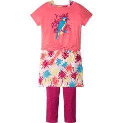 """Shirt """"boxy"""" + sukienka + legginsy (3 części) bonprix jasnoróżowy. Legginsy dla dziewczynek marki Pulp. Za 37.99 zł."""