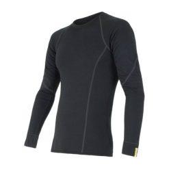 Sensor Koszulka Termoaktywna Z Długim Rękawem Merino Wool Active M Black Xxl. Czarne koszulki sportowe męskie Sensor, z materiału, z długim rękawem. Za 215.00 zł.