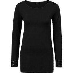 Sweter z oczkami bonprix czarny. Swetry damskie marki bonprix. Za 79.99 zł.