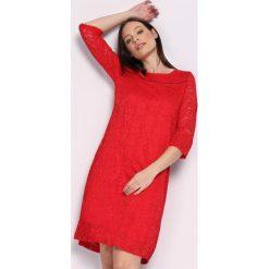 Czerwona Sukienka Ready For You. Czerwone sukienki damskie Born2be, na jesień. Za 59.99 zł.