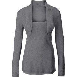 Sweter z bolerkiem 2 w 1 bonprix szary melanż. Szare swetry damskie bonprix. Za 59.99 zł.