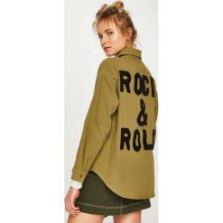 Answear - Koszula. Brązowe koszule damskie ANSWEAR, z bawełny, z długim rękawem. Za 149.90 zł.