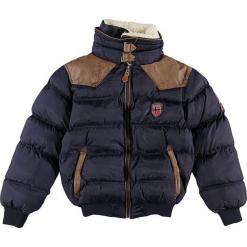 """Kurtka zimowa """"Abramovitch"""" w kolorze granatowym. Niebieskie kurtki i płaszcze dla chłopców marki Geographical Norway Kids & Women, na zimę, ze skóry. W wyprzedaży za 250.95 zł."""