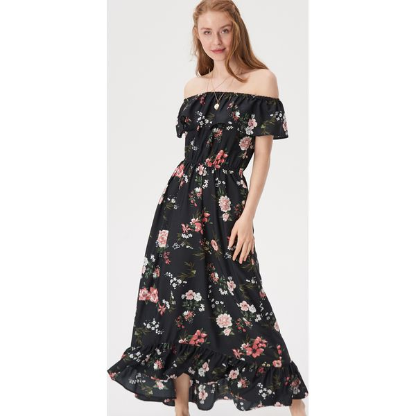 9d3e0767b4f95d Długa sukienka w kwiaty - Wielobarwny - Sukienki damskie Sinsay. W ...