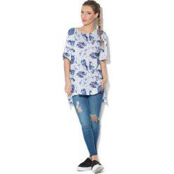 Colour Pleasure Koszulka CP-033  154  biało-niebieska r. uniwersalny. Bluzki damskie marki Colour Pleasure. Za 76.57 zł.