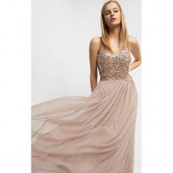 Sukienka maxi z cekinami. Brązowe sukienki damskie Orsay, z dzianiny, dekolt w kształcie v. Za 229.99 zł.