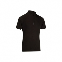 Koszulka krótki rękaw na rower ROADC 100 męska. Czarne koszulki sportowe męskie B'TWIN, z materiału, z krótkim rękawem. Za 29.99 zł.
