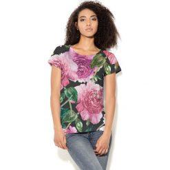 Colour Pleasure Koszulka CP-034 192 czarno-zielono-różowa r. XXXL/XXXXL. Bluzki damskie Colour Pleasure. Za 70.35 zł.