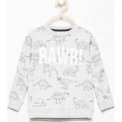 Bluza z nadrukiem dinozaurów - Beżowy. Bluzy dla chłopców marki bonprix. W wyprzedaży za 29.99 zł.