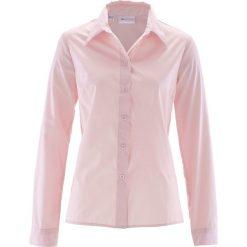Bluzka bonprix pastelowy jasnoróżowy. Czerwone bluzki damskie bonprix, klasyczne, z klasycznym kołnierzykiem, z długim rękawem. Za 44.99 zł.